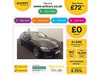 Black BMW 420d Sport Coupe Auto Diesel 2014 FROM £72 PER WEEK!