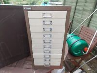 10 draw filling cabinet ideal for small tool storage