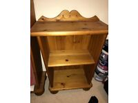 Hand carved oak children's bedside table