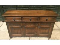 Solid Oak Old Charm Sideboard