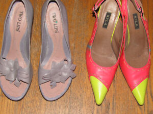 930a7a3caed Lot of 2 Pairs TWO LIPS N.Y.L.A Gorgeous Heels SZ 8M 12.99 Each