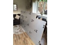 Silver kitchen splash back 8ftx4ft
