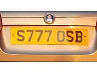 S777OSB Private Number plate for Sale