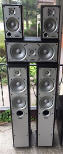 Infinity Speakers - 5Ch matching set. Great shape and sound