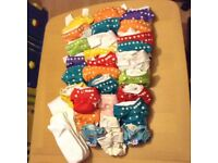 25 CLOTH NAPPIES for Eco Mummy - RRP £200 - Reusable & washable
