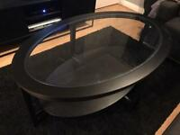 Ikea Malmsta pair of tables in black. Coffee and side table