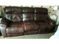 2+3 leather electric reclining sofa.
