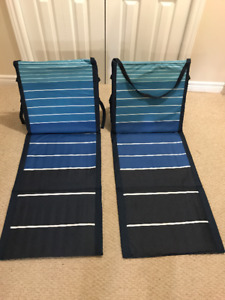 Foldable Beach Mat, Convenient with Back Support (a pair)