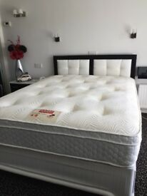 King size 4 drawer divan with memory foam top
