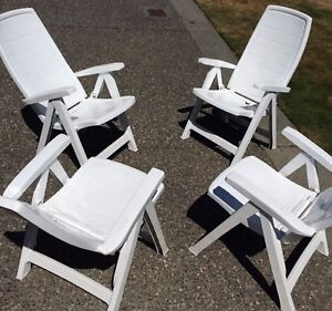 4 Patio Deck Garden Chairs. Excellent condition.