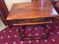 Georgian style Walnut Side Table with single drawer