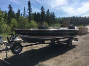 2014 LUND FURY 1600 + 40HP MERC! LESS THEN 50 HOURS ON THE BOAT!