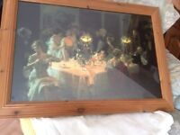 Loverly picture in wooden frame
