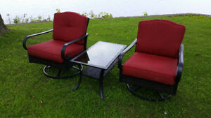 Set de Patio chaises bercante/pivotante-Patio set swivel rockers