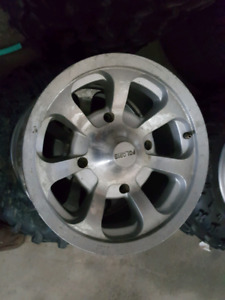 Polaris factory rims 14x7 and 14x8 with 4 x 156 bolt pattern