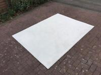 New Condition Large Cream Rug Hession backed