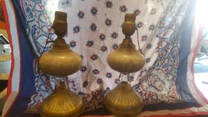 1920's Antique blown glass lamps
