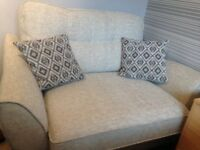 Beige Cuddle Chair 4ft x 3ft would seat 2 people.