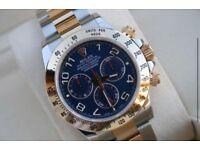 Rolex Cosmograph Daytona SS/Gold Blue Arabic Dial SW7750