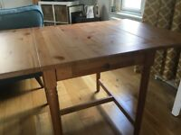 IKEA Ingatorp drop-leaf dining table antique stain