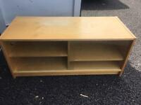 Tv stand with lockable doors