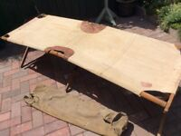 WW2 Original Vintage Army Camp Bed