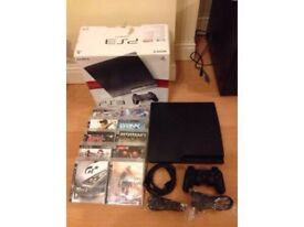 Sony PS3 SLIM console boxed with 10 games - bargain £79