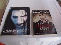 MARILYN MANSON & COREY TAYLOR BOOKS