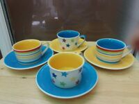Whittard and Royal Worcester tea and espresso cups and saucers