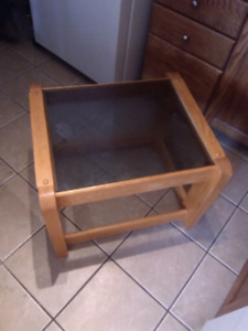 Glass End table today 20.00