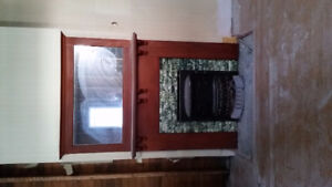 Vintage Real Wood Fire Place Mantel with Mirror