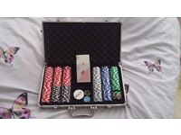 Poker set with a suitcase