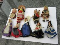 Doll collection 60 to 65 years old