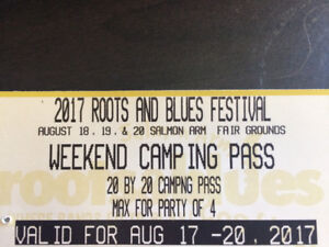 Roots & blues camping pass *OBO