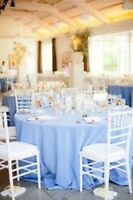 Tablecloths, chaircovers, overlays, runners, sashes...