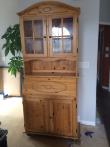 wood hutch with desk