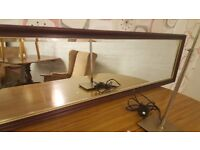 Beautiful Solid Mahogany Rectangular Mirror