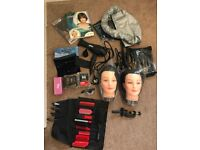 Hair dressing training complete kit with extras!!