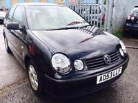 VW POLO 1.2 PETROL MANUAL 2003 5 DOORS 1.2 TWIST BLACK
