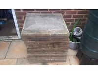 15 concrete slabs. 2ft X 2ft. Free. Collection only