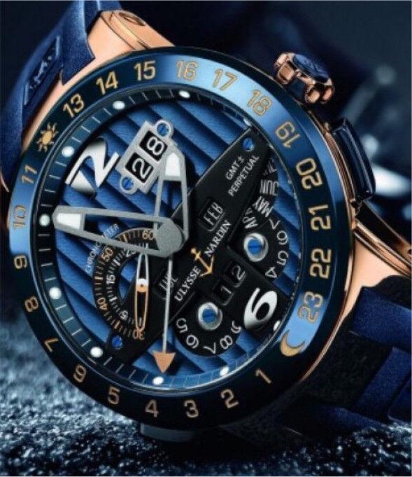 Ulysse Nardin Blue Toro Chronograph Limited Edition Gentleman's Watch