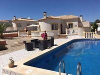 rent villa with private pool in Alicante Spain