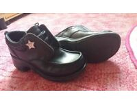 Girls leather school shoes size 3