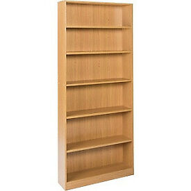 Maine Tall Wide Bookcase - Oak Effect