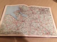 Vintage motorist touring map