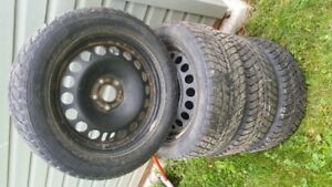 Chev 5 bolt rims and studded winter tires