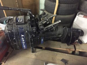 Mercury 20 hp. Outboard with fuel tank