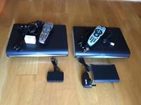 2 Sky+ HD boxes and wifi with remotes