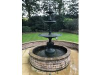Victorian fountain -with pump,surround ,coping stones and liner