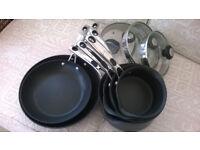 6 piece professional quality range pan set